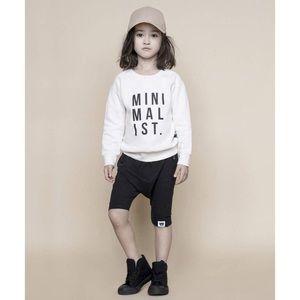 HUXBABY Minimalist Fleece Sweatshirt
